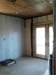 kitchen french doors - this is the wall that will be bricked using old handmade bricks left over from the fireplaces/chimneys original to the house