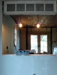 dining room/kitchen bar - one of the three circa 1915 transoms